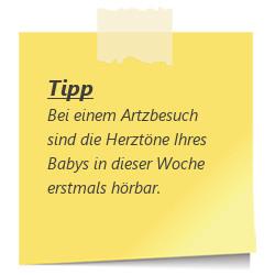 Tipp zur SSW 17: Herztoene beim Baby