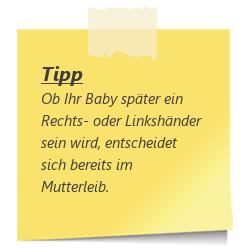 Tipp zur SSW30: Baby Links- oder Rechtshaendler